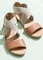 Elle Kısa Topuklu Sandalet Taba